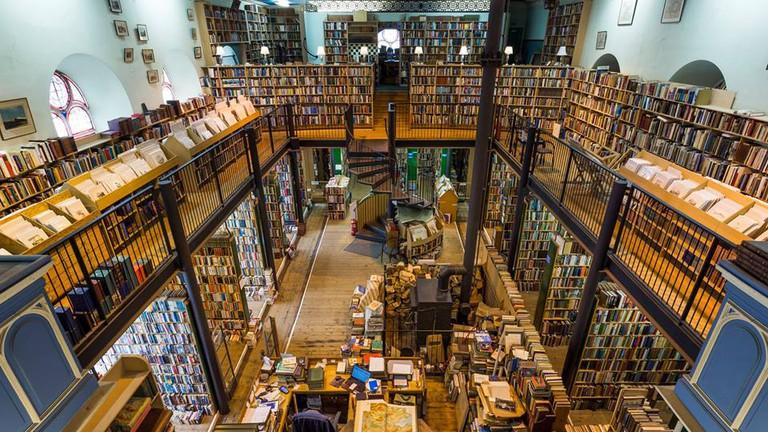 Leakey's Bookshop in the Old Gaelic Church