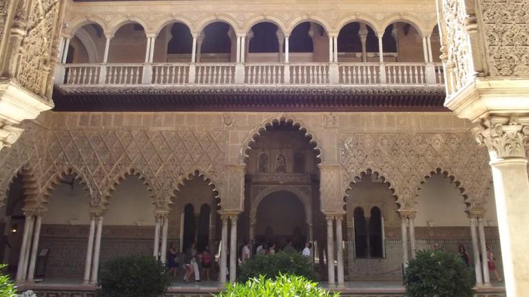 Mudéjar architecture is notable in the interiors of Seville's Alcazar