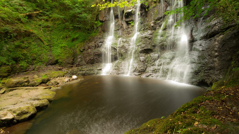 Waterfall trails at Glenariff Forest Park