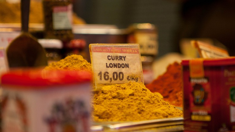 London curry on sale at the Boqueria market