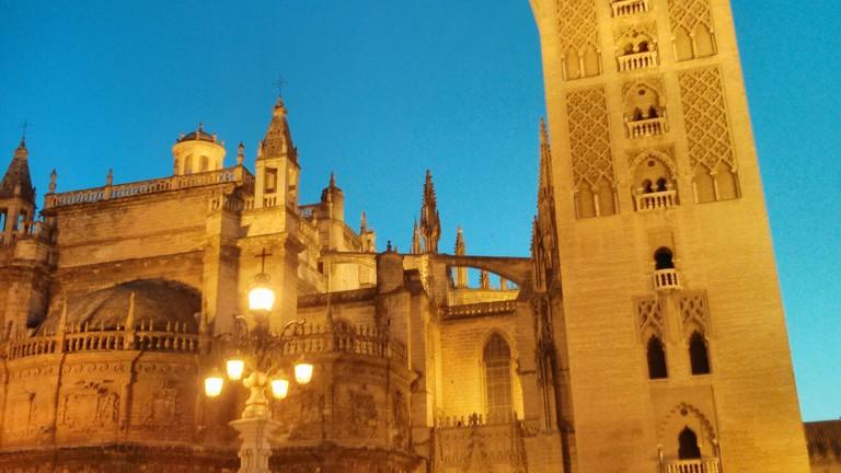 Seville's iconic Giralda bell tower