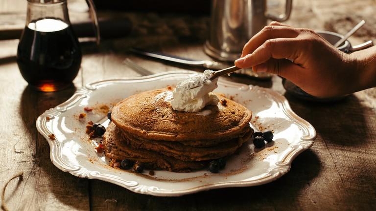 "<a href=""https://pixabay.com/en/bread-breakfast-food-pancakes-1851249/"" target=""_blank"">Pancakes"