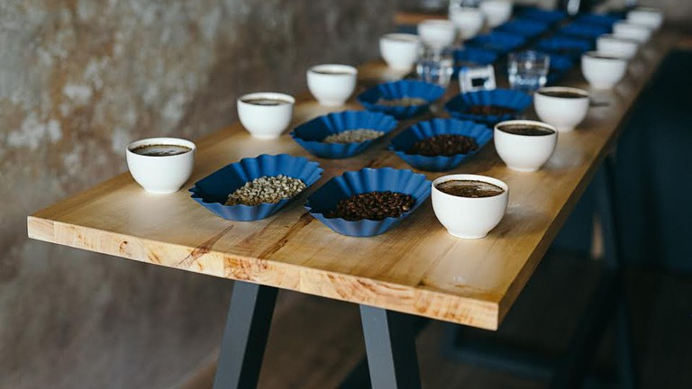 Cupping session at Legado Coffee Roastery