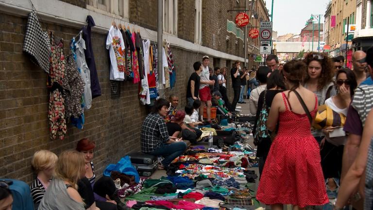It's always busy at Brick Lane market