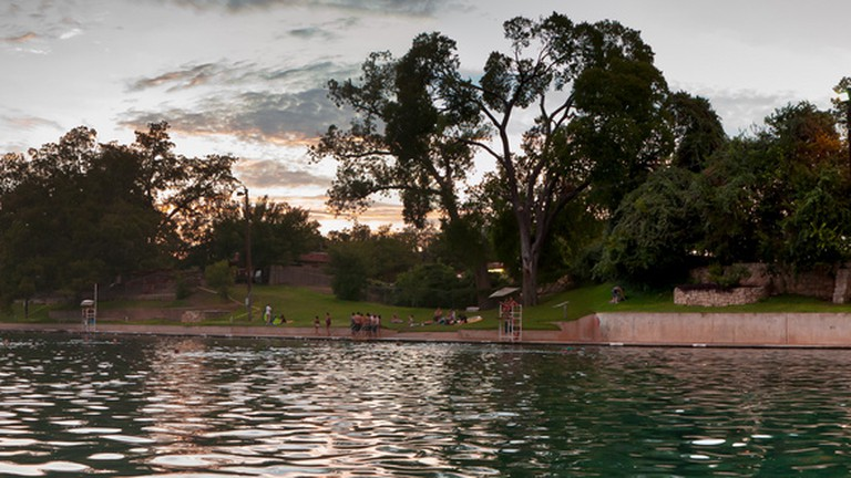 Austinites everywhere recognized Barton Springs Pool as the backdrop of a dramatic scene in Terrence Malick's The Tree of Life (2011).