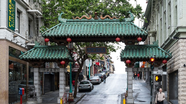Dragon Gate to Chinatown in San Francisco