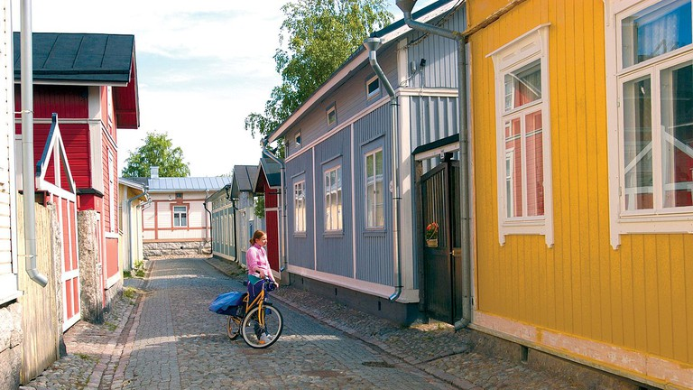 Buildings at Rauma Old Town