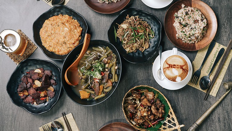 Wa cuisine and drinks at Root Kitchen and Bar in Yangon, Myanmar