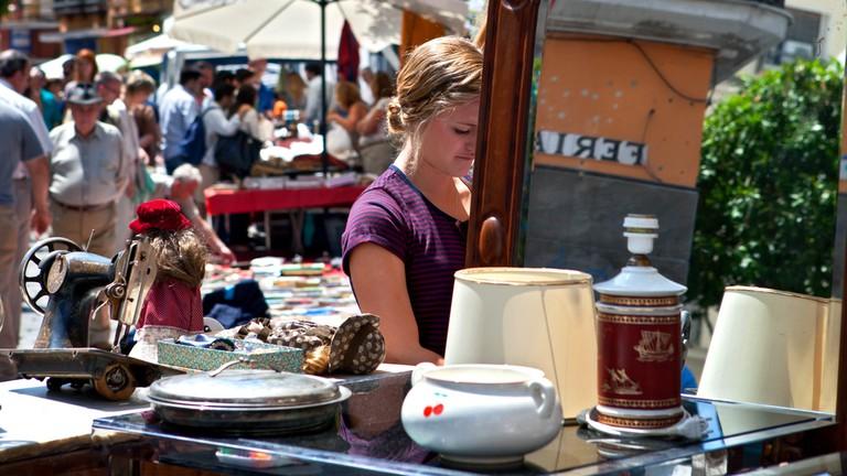 Calle Feria's Thursday morning flea market is a treasure trove