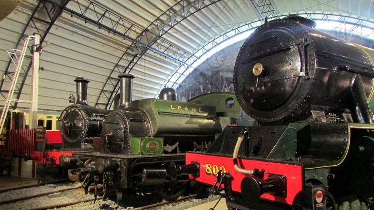 Locomotives at the Ulster Transport and Folk Museum