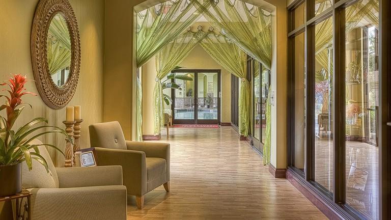 Beautiful hotel corridor