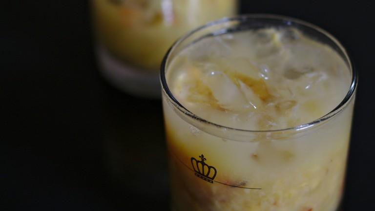 A caipirinha is a good drink choice at the Outro Bar