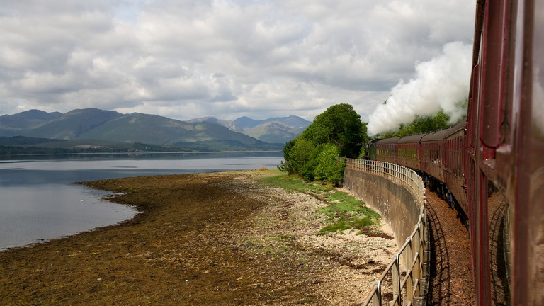 The Jacobite by Loch Linnhe