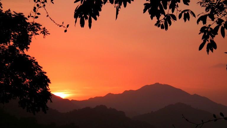Caribbean sunset from Casa Loma