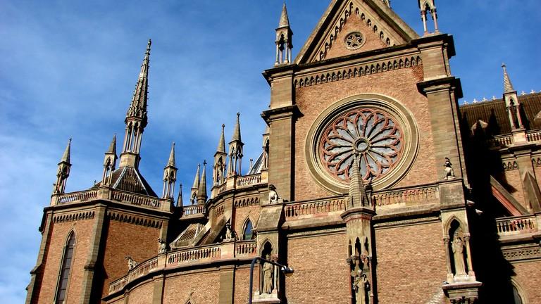 The Neo-Gothic Iglesia de los Capuchinos