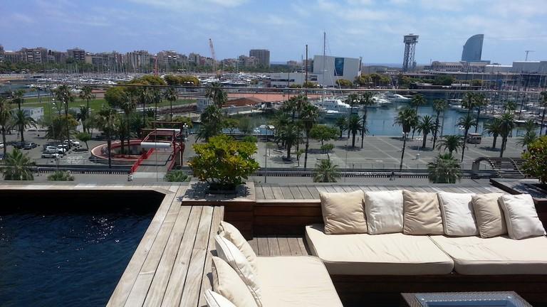 The rooftop pool overlooks the harbour Courtesy of Hotel Duquesa de Cardona