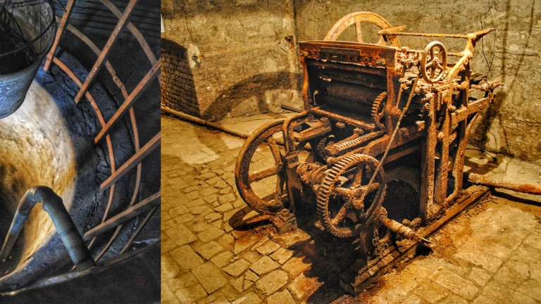 The well and the printing machine