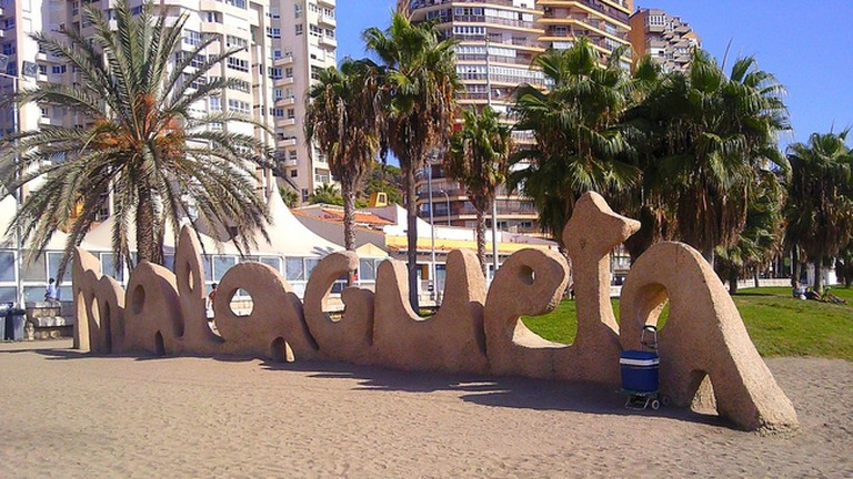Hotel California is just a couple of hundred metres away from Málaga's most popular beach