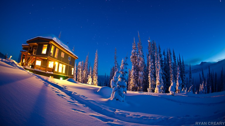 Night time at Sol Mountain Lodge