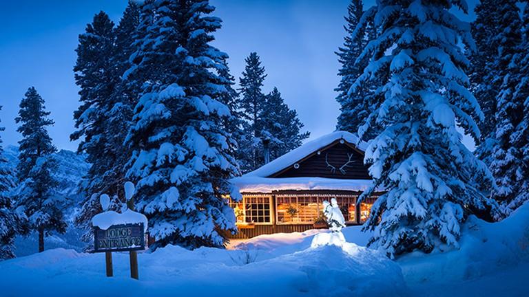 White winter wonderland at Storm Mountain Lodge