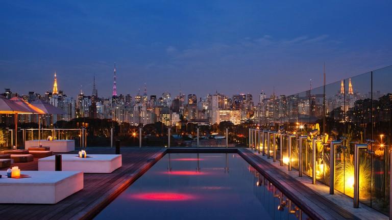 Pool at Skye Bar, São Paulo