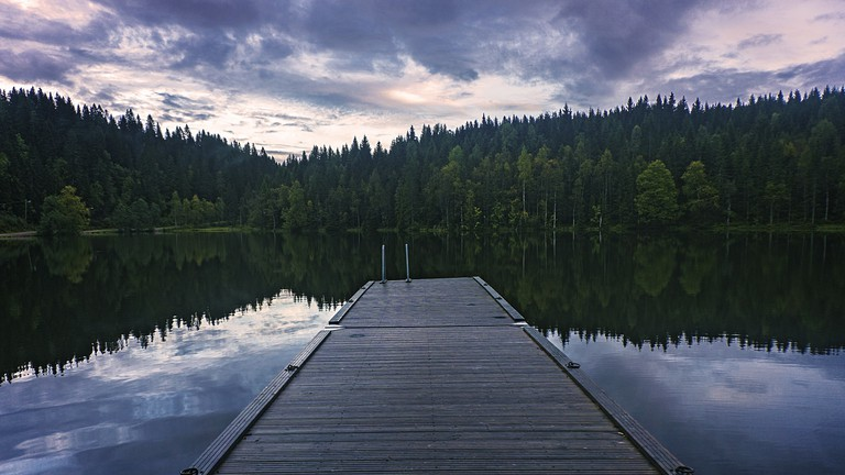 The Tryvann Lake inside Nordmarka Forest