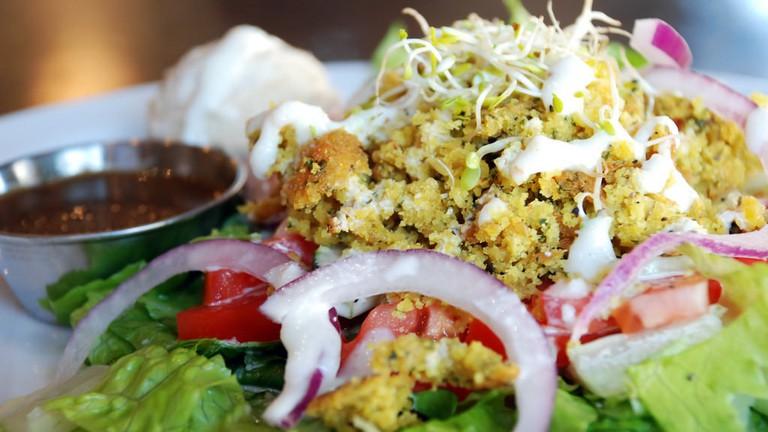 A falafel salad