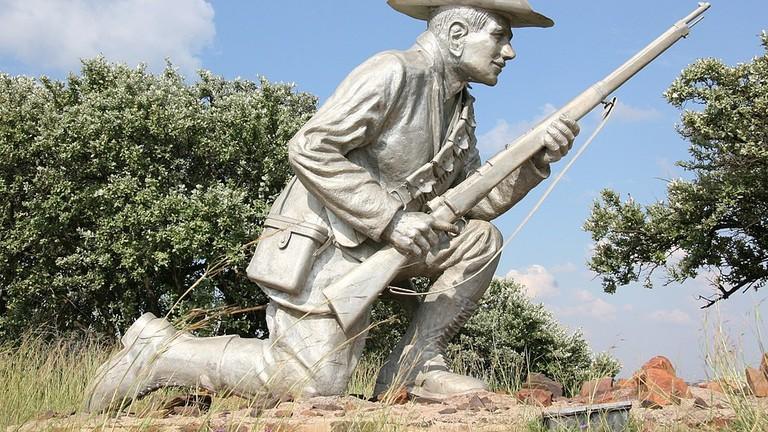 Statue of Second Boer War hero Danie Theron