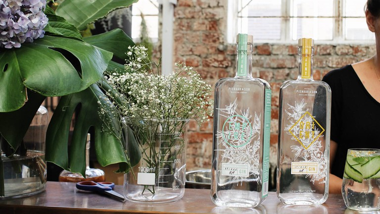 A great range of gins can be sampled at Pienaar and Son