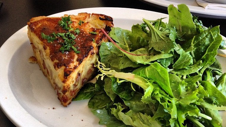 Organic Quiche and Salad