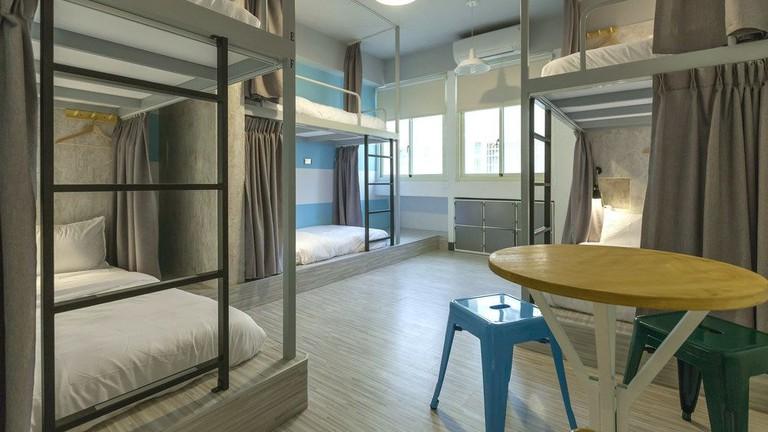 The modern dorm rooms at Bayhouse Comfortel