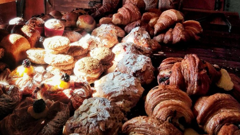 Fresh baked pastries at Boulenc