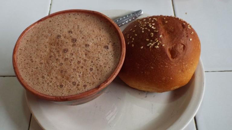Hot Chocolate and Pan de Yema