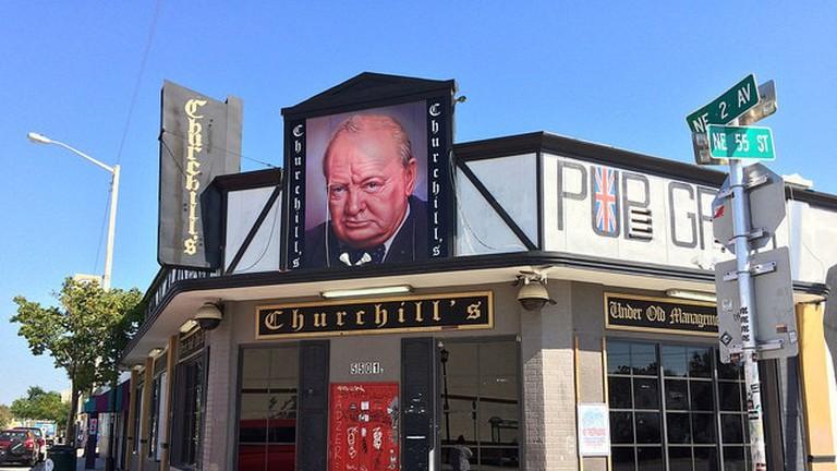 Churchill's Pub in daytime