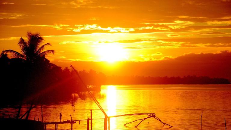 Sunset from Aroor Kumbalam bridge