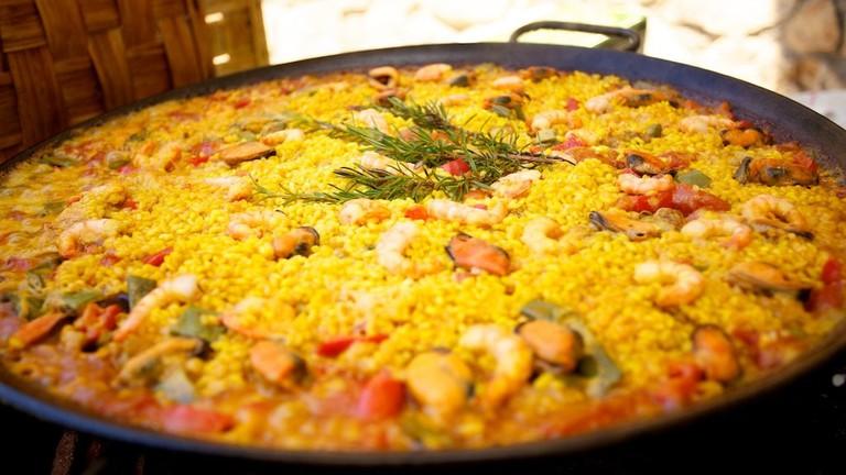 Delicious Barcelona paella