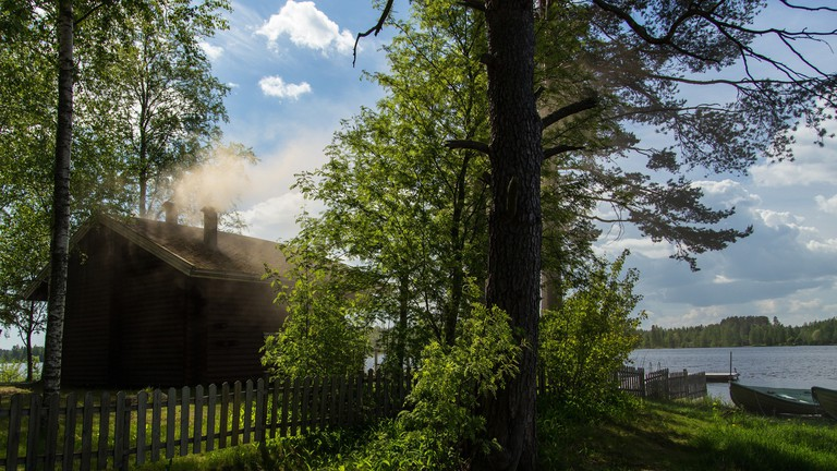 Smoke sauna at Kunnonpaika