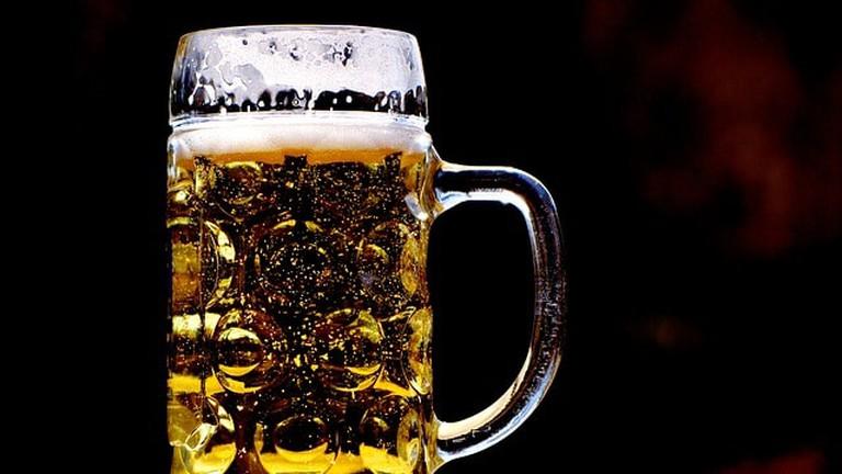 A refreshing tankard of beer