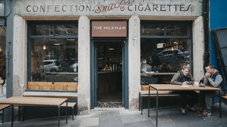 The Milkman on Edinburgh's Cockburn Street