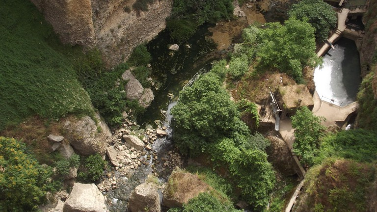 The bottom of the El Tajo gorge in Ronda