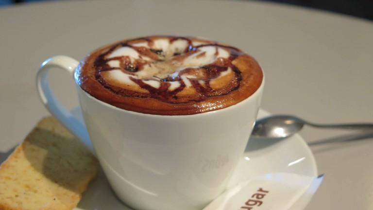 Java Cafe & Gallery serves a mean coffee and cake