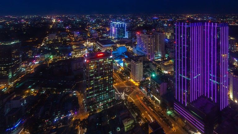 View of Ho Chi Minh City from Bitexco Tower