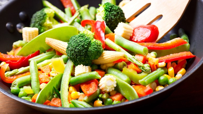 Amaltea's sauteed vegetables and noodles are highly recommended