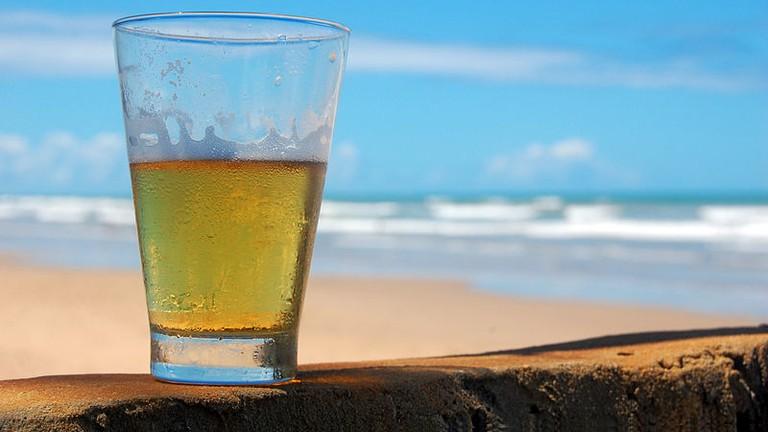 Beachside beer