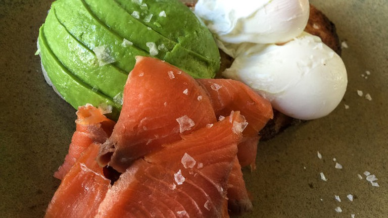 Try the poached eggs, salmon and avocado on toast at LPH