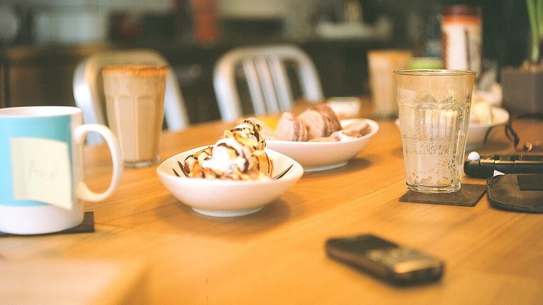 Sweets and coffee at The Factory