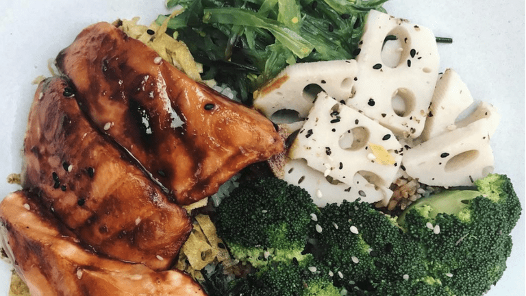 Teriyaki Salmon Bowl from He Kitchen & Co.
