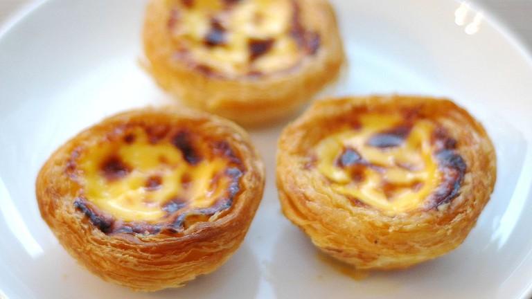 Pastéis de nata are one of the shop specialties