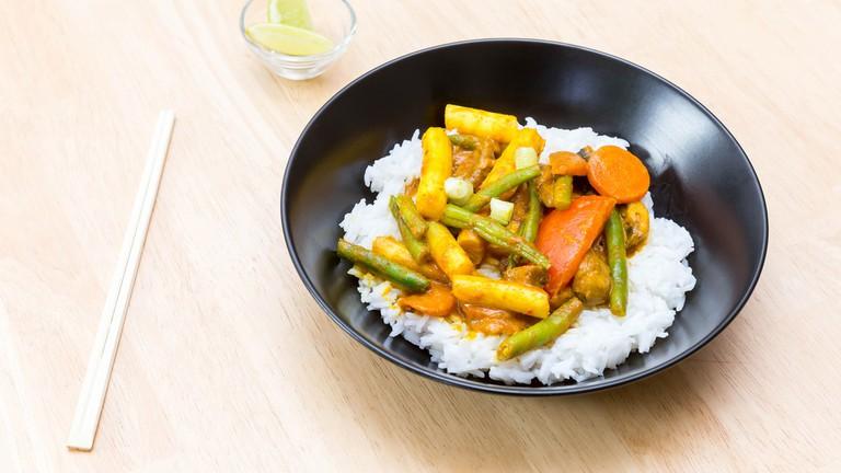 Tasty vegetarian curries