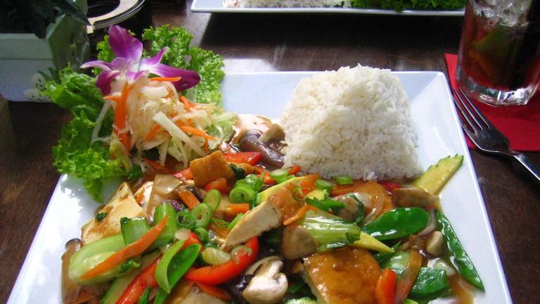 Seasonal vegetables with tofu